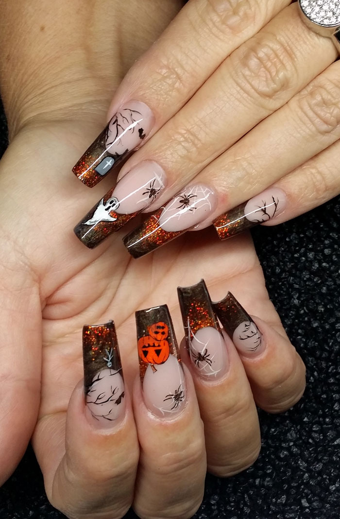 Halloween Nägel