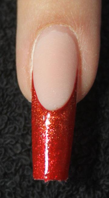 Farbverlauf tupfen mit Glitter-Gel Red Copper